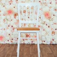 White Cheltenham Chair with Gold Seat Pad