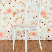 White Cheltenham Chair with Ivory Seat Pad