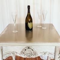 Luxury Silver Poseur Table