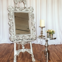 Silver Easel and Mirror