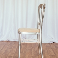 Silver Cheltenham Chair with Ivory Seat Pad