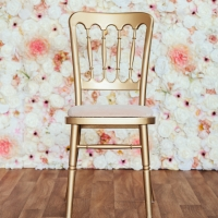 Gold Cheltenham Chair with Ivory Seat Pad