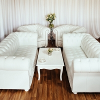 Sofas with Low Back Matching Armchairs and White Gloss Coffee Table