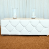 White Leather Chesterfield Coffee Table