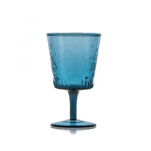 Hattie Aqua Wine Goblet Hire